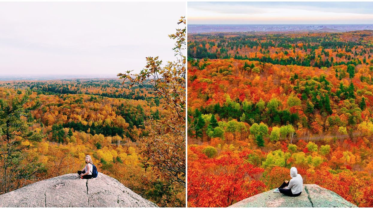 You'll Get The Most Vibrant Views Of Fall Colors From This Mountaintop Near Ottawa