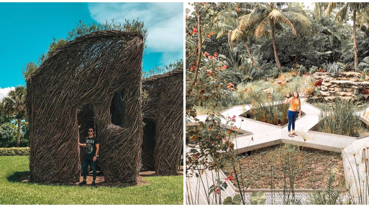 There Is An Enchanting Tropical Garden Hidden Behind An Airport In South Florida
