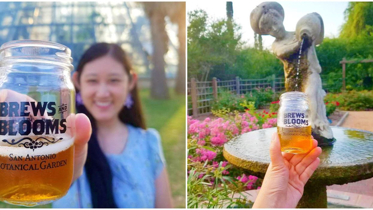 You Can Sip Brews All Night At These Stunning San Antonio Gardens This Fall