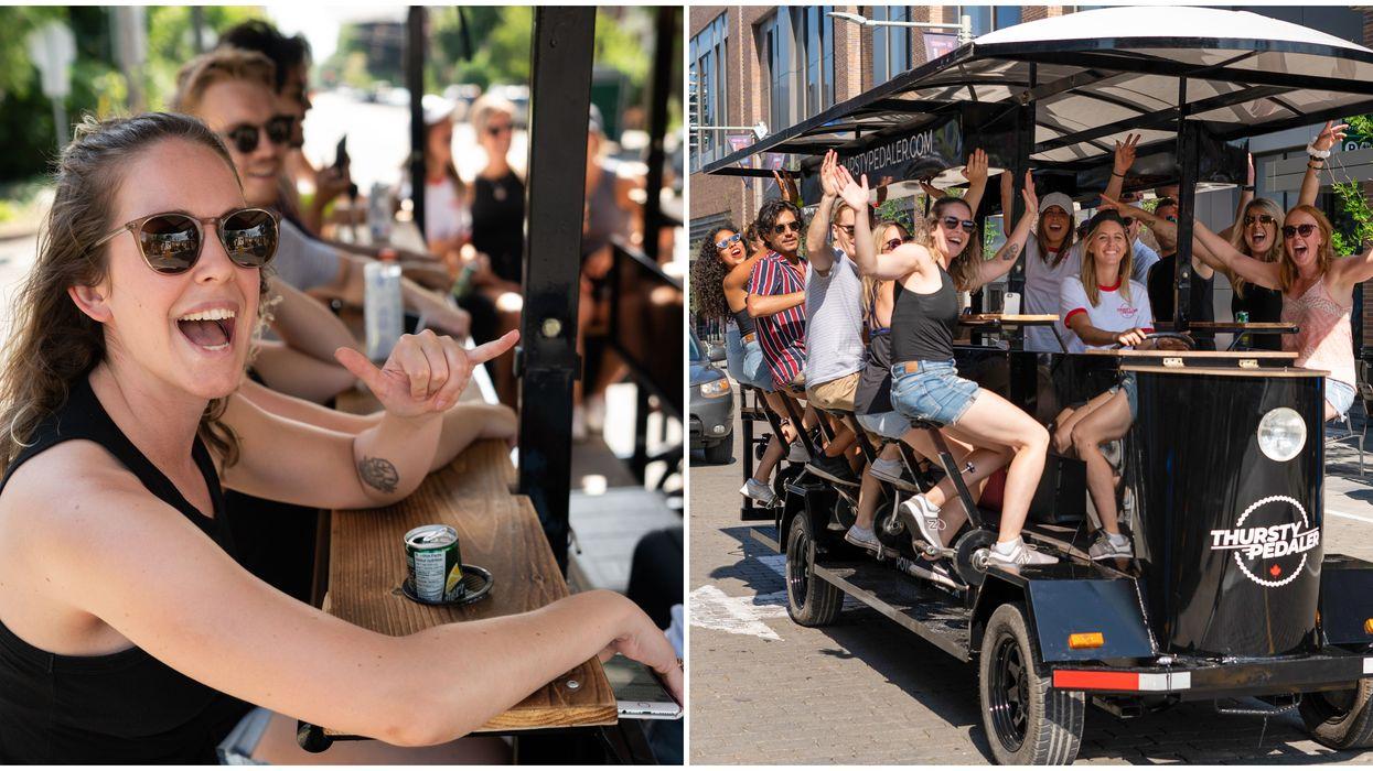 This Pedal-Powered Party Bike Takes You On A Dizzying Tour Of Ottawa Bars