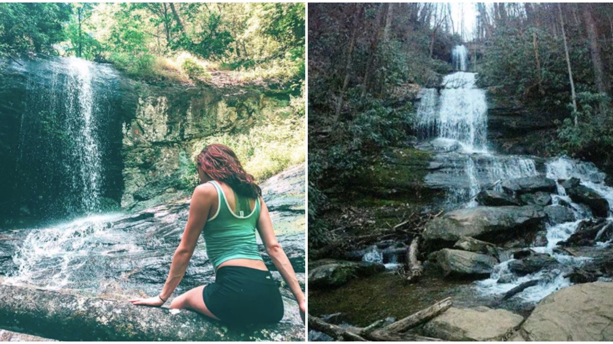 This Easy Hike In North Georgia Will Take You Through A Canopy Forest To TWO Waterfalls