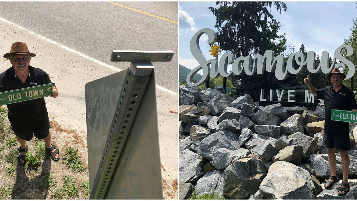 """People Keep Stealing """"Old Town Road"""" Signs From A Small BC Town & Their Response Is Everything"""