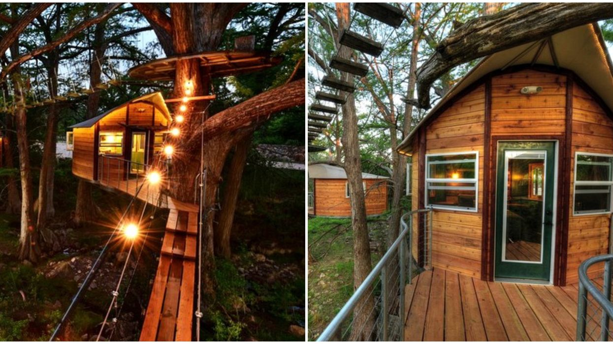 You Have To Cross Suspension Bridges To Get To This Tree House Rental Near Austin