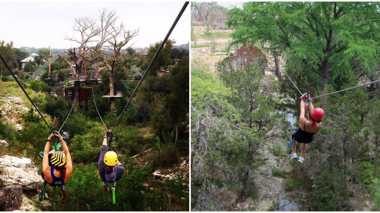You Can Soar Through The Sky On This Wild Treetop Adventure Course Near Austin