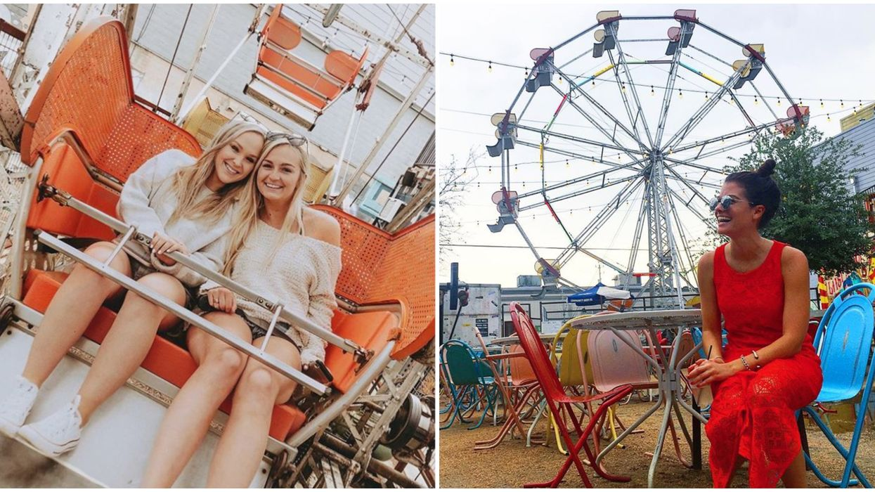 This Outdoor Bar In Houston Has Its Own Ferris Wheel That You Can Actually Ride