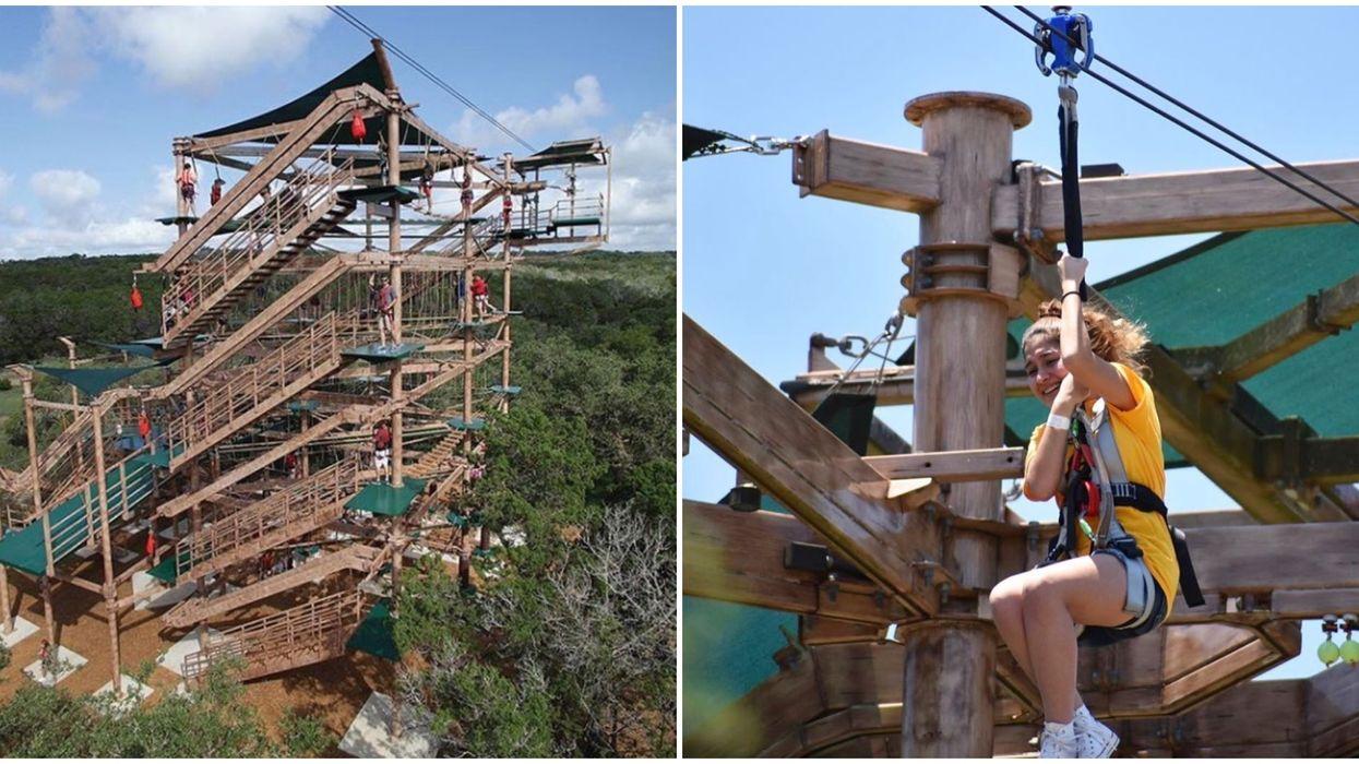 San Antonio Has A Crazy Tree Top Obstacle Course With A Wild Zipline