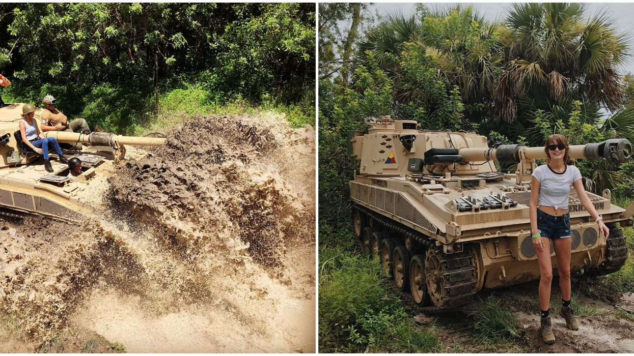 You Can Drive A Real Tank & Crush Cars At This Adult Theme Park Near Orlando