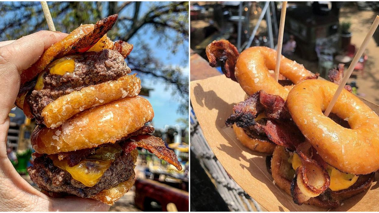 You Can Get The Craziest Donut Sliders At This Wild Dallas Food Joint