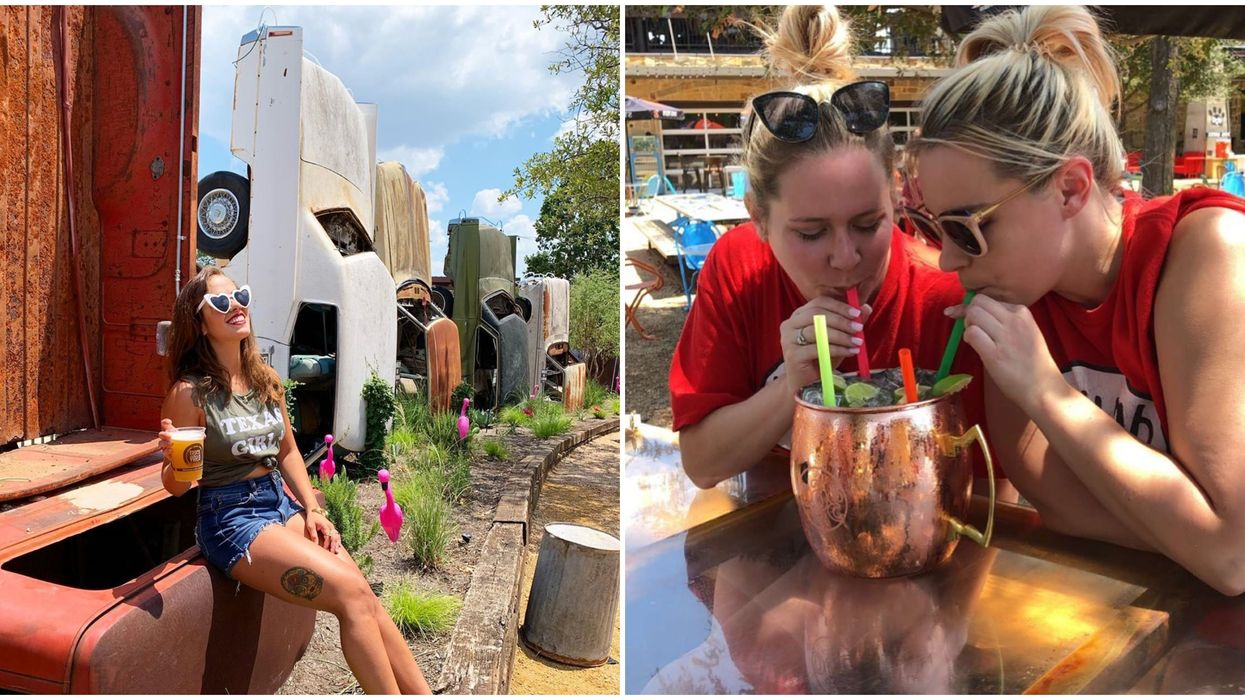 This Bar Near Dallas Is An Adult Playground With Massive Drinks And A Truck Graveyard