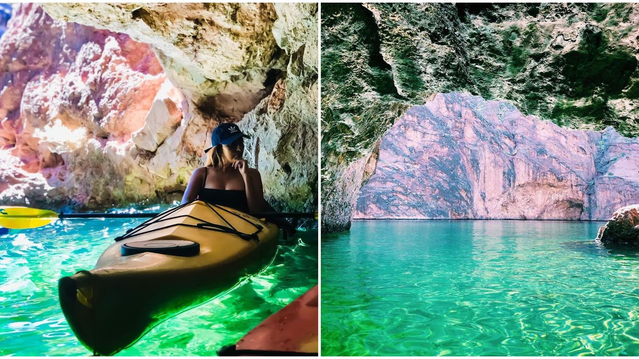 You Can Go On A Magical Kayaking Adventure That Takes You To An Emerald Cave In Arizona