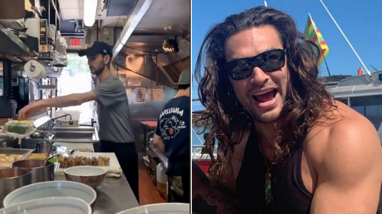 Jason Momoa Celebrated Finally Getting Out Of An Elevator At Popular Vancouver Ramen Spot