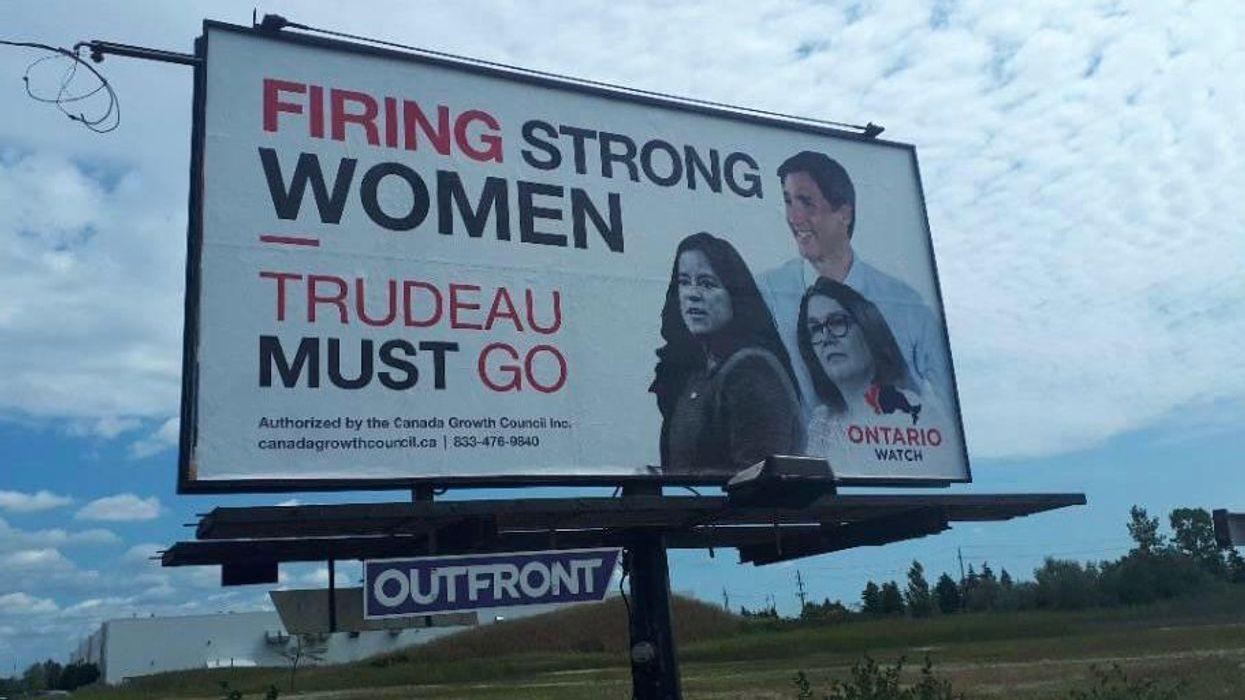 Anti-Trudeau Billboards