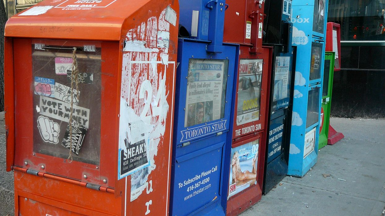 Toronto Man Has Been Smearing Poop All Over Public Newspapers For Months