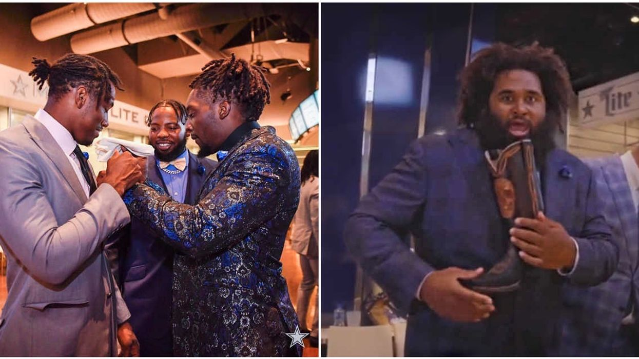 The Dallas Cowboys Keep Roasting Each Other At Today's Kick-Off Party
