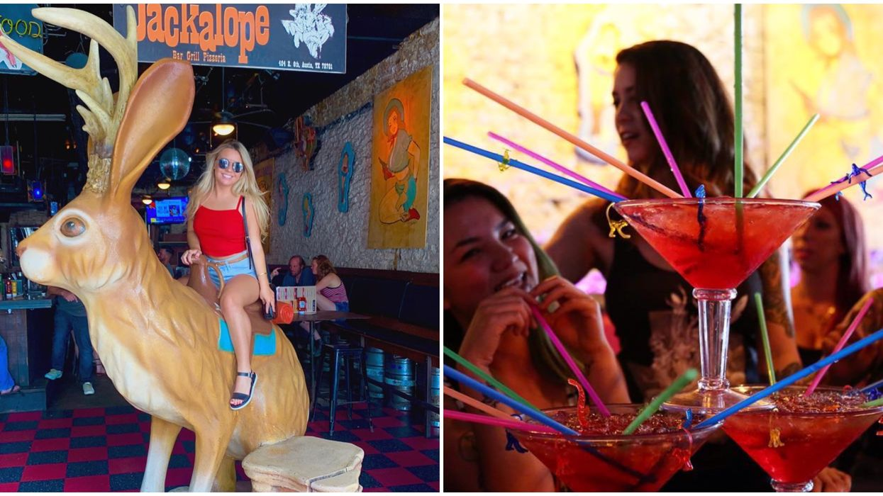 You Can Ride An Actual Jackalope And Sip Massive Drinks At This Bar In Austin