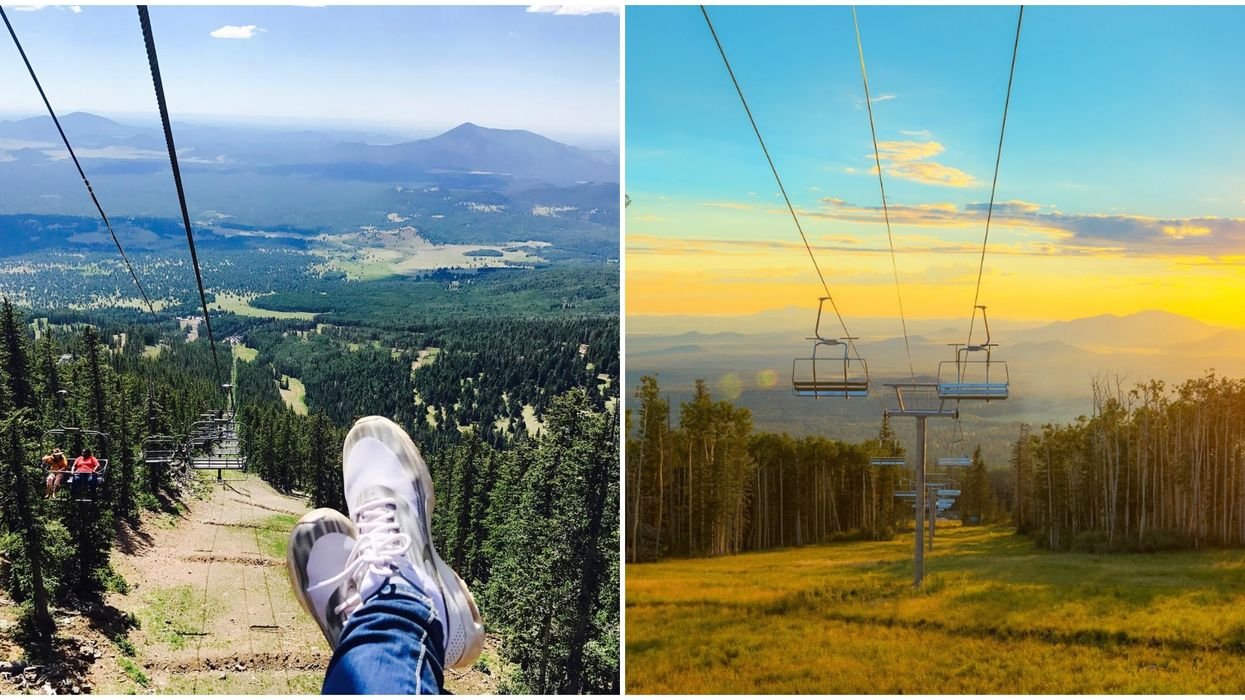 This Chairlift In Arizona Takes You Up To 11,500 Feet With Unreal Views Of The Mountains