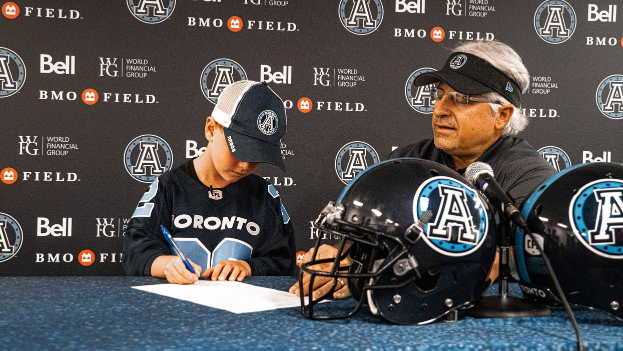 Toronto Argos Signed A Sick 7-Year-Old & It's The Most Heartwarming Thing You'll Ever See