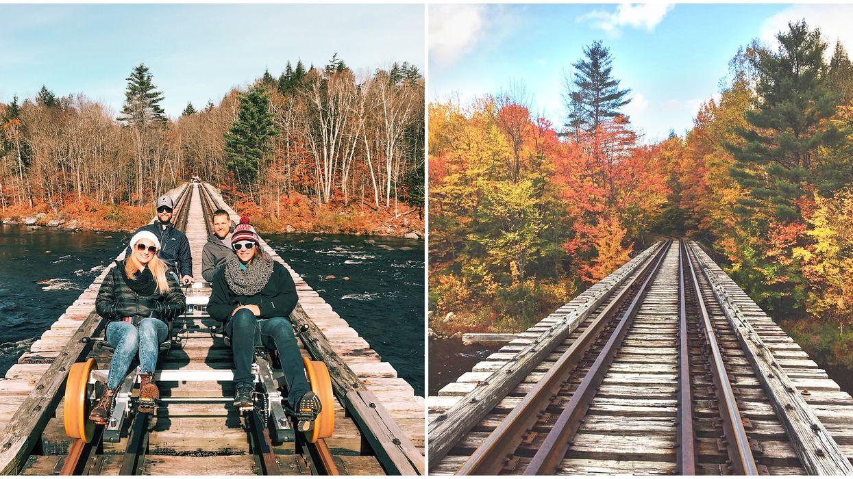 Rail bike near Ontario