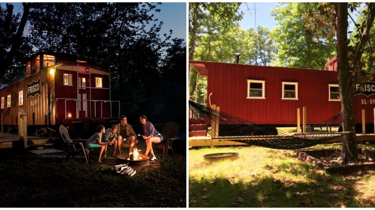 You Can Glamp In An Actual Train Caboose At This Spot In North Florida