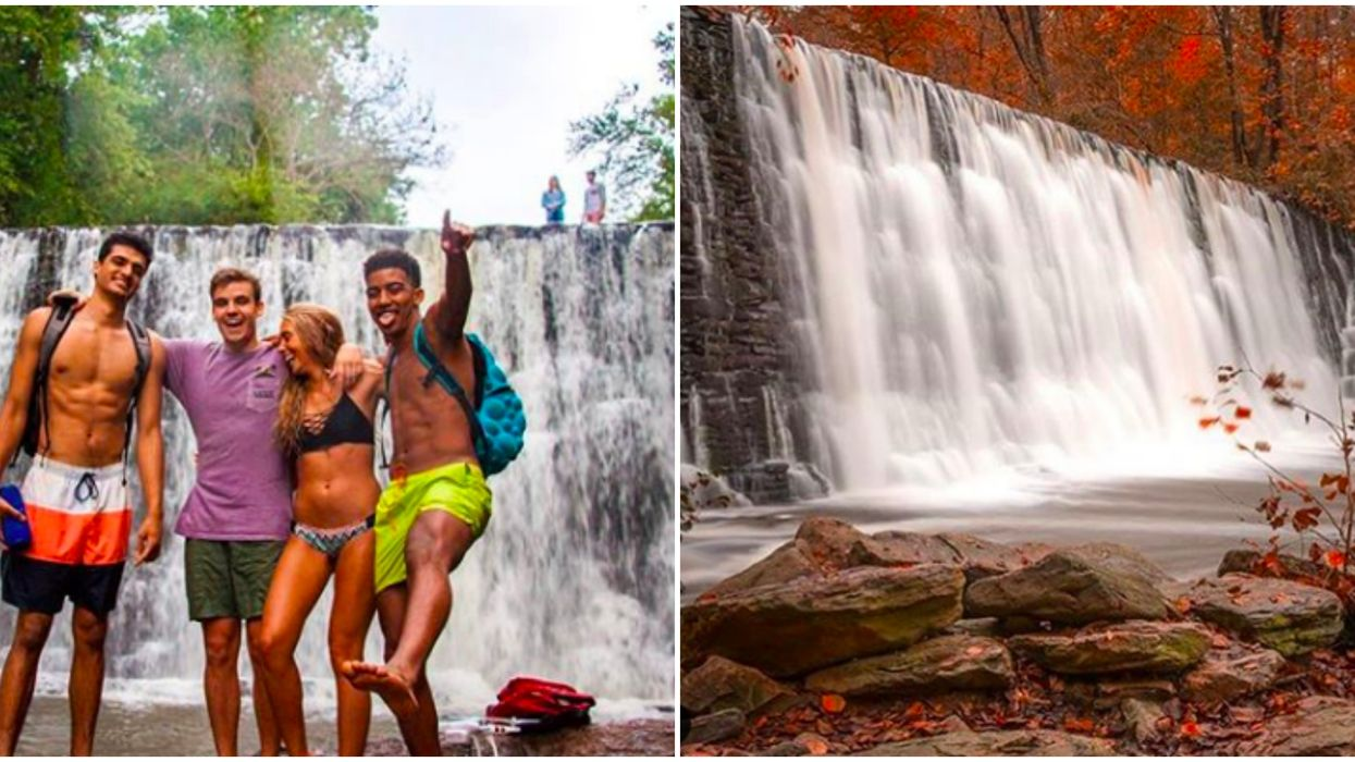 A Short Hike Through This Historic Georgia Park Leads You To A Massive Cascading Waterfall