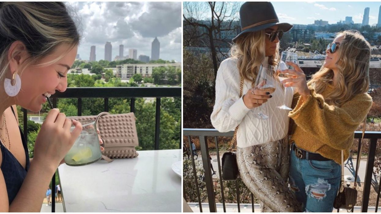 You Will Get Crazy Skyline Views & Beautiful Desserts At This Rooftop Bar In Atlanta
