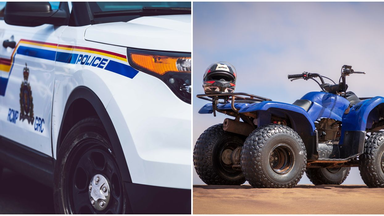 ATV Driver In Life-Threatening Condition After Crashing Head On Into RCMP Vehicle