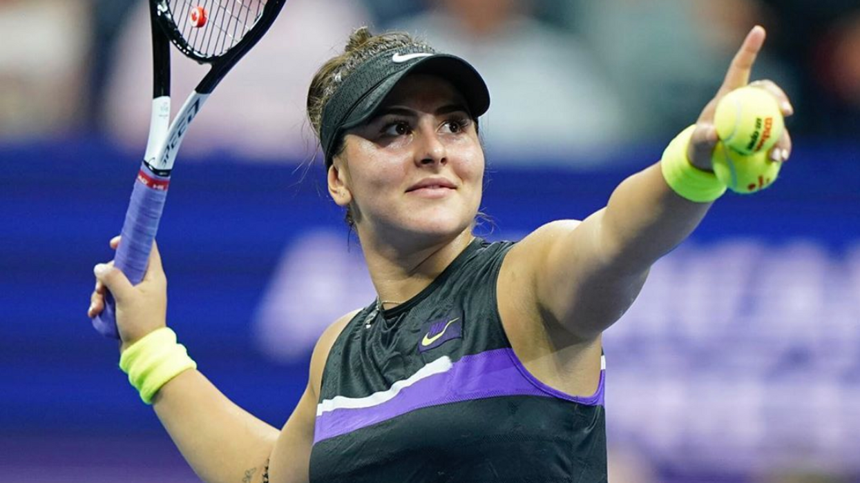 Bianca Andreescu's Mom, Dad & Puppy Came Out To See Her Make History Last Night (PHOTOS)