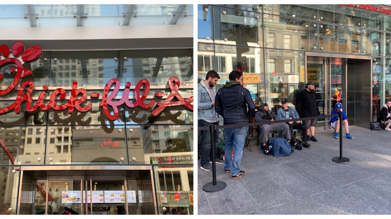 Toronto Chick-Fil-A Customers Camped Out All Night To Be The First Ones In Line (PHOTOS)