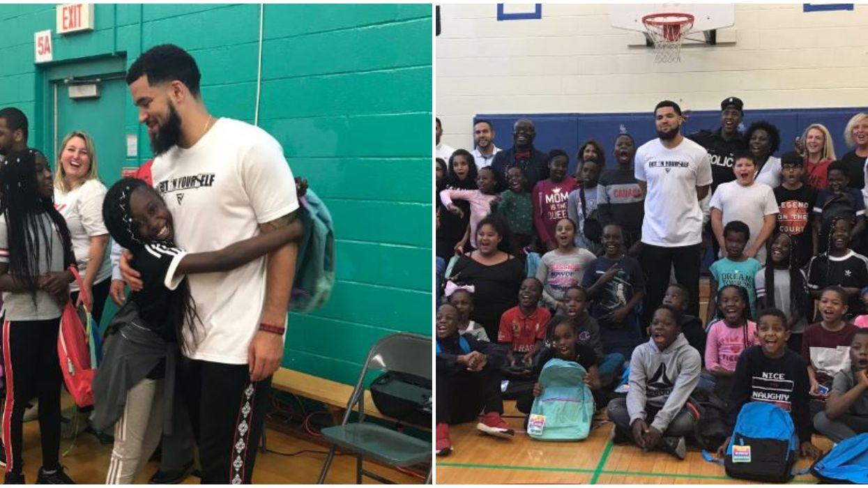 Fred VanVleet Rocked Up At A Toronto School On Tuesday Cuz He's Everyone's Hero (PHOTOS)