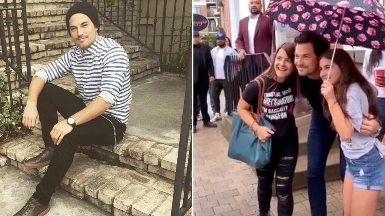 Giacomo Gianniotti's Appearance In Ontario Yesterday Had Fans Lining Up Around The Block