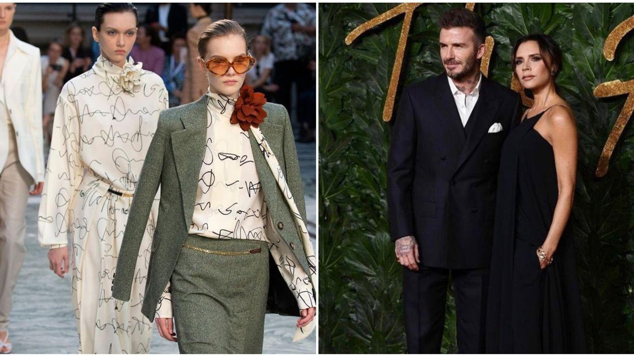 David Beckham Cheers On Victoria In London Fashion Week