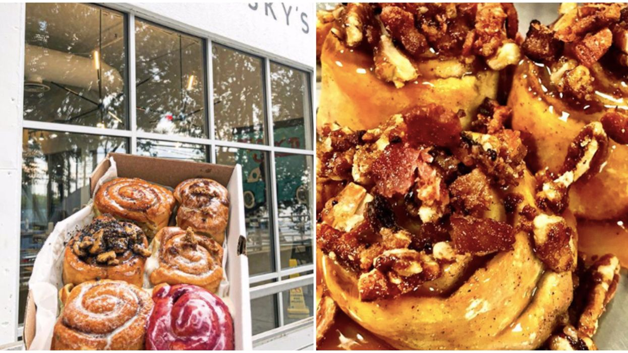 This New Pizza Restaurant In Atlanta Serves Cinnamon Rolls That Are Crazy Huge