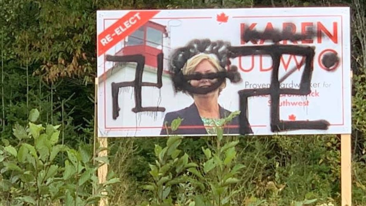 Canadian Election Signs Were Defaced With Swastikas In 3 Different Ridings