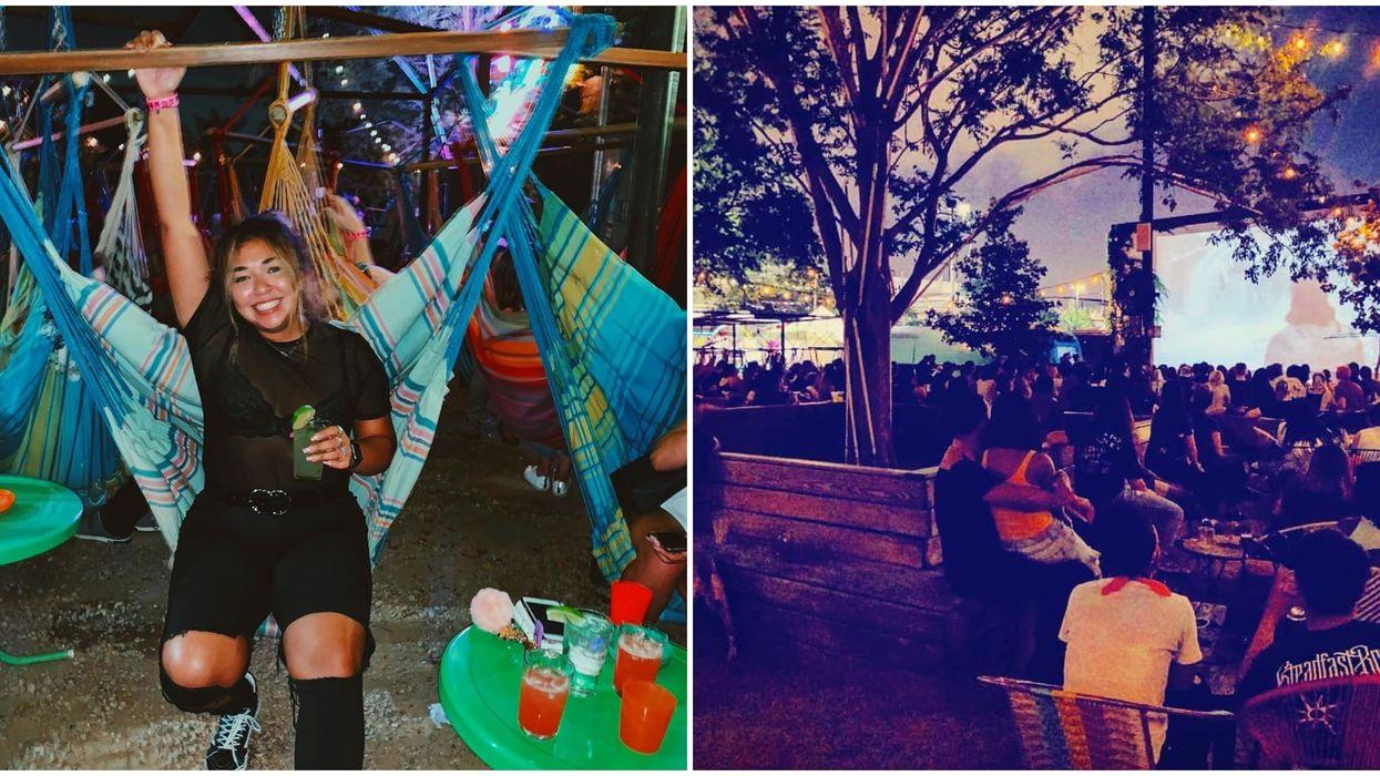 Houston Bar Has Outdoor Movie Nights
