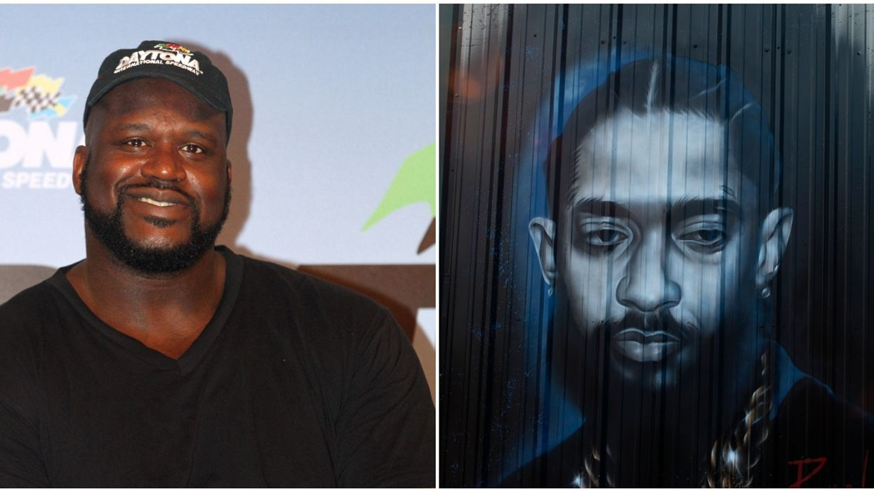 Shaquille O'Neal Just Received A Painting Of Tupac, Biggie, Eazy-E & Nipsey Hussle
