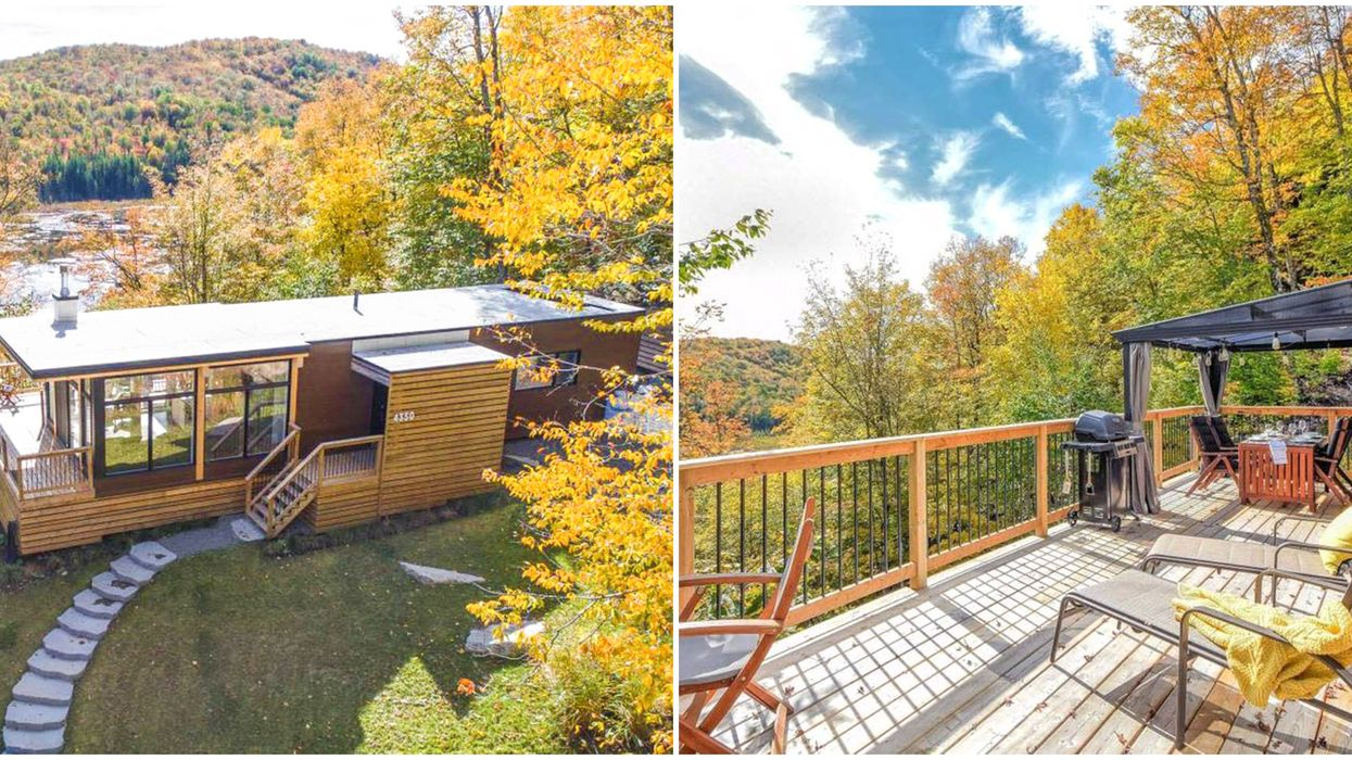 This Airbnb In Quebec Near Montreal Is Mountainside & Has Stunning Fall Views