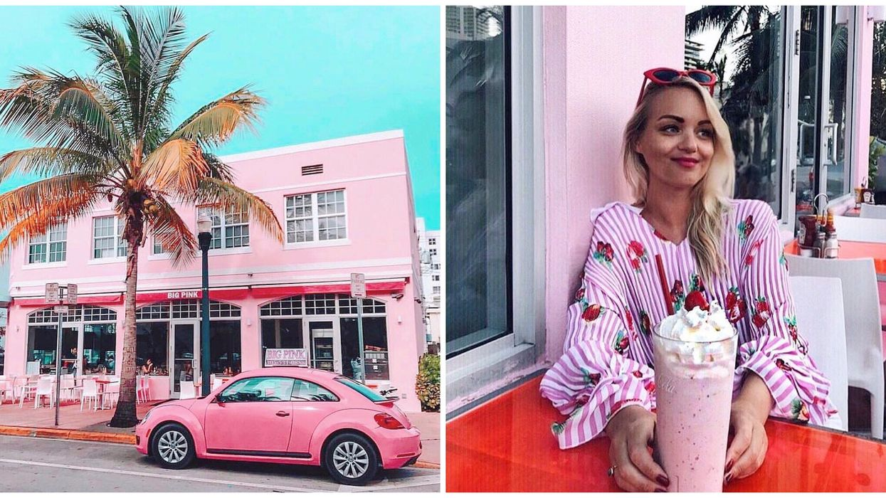 This Glamorous Pink Restaurant In South Florida Has The Best Old-Fashion Vibes