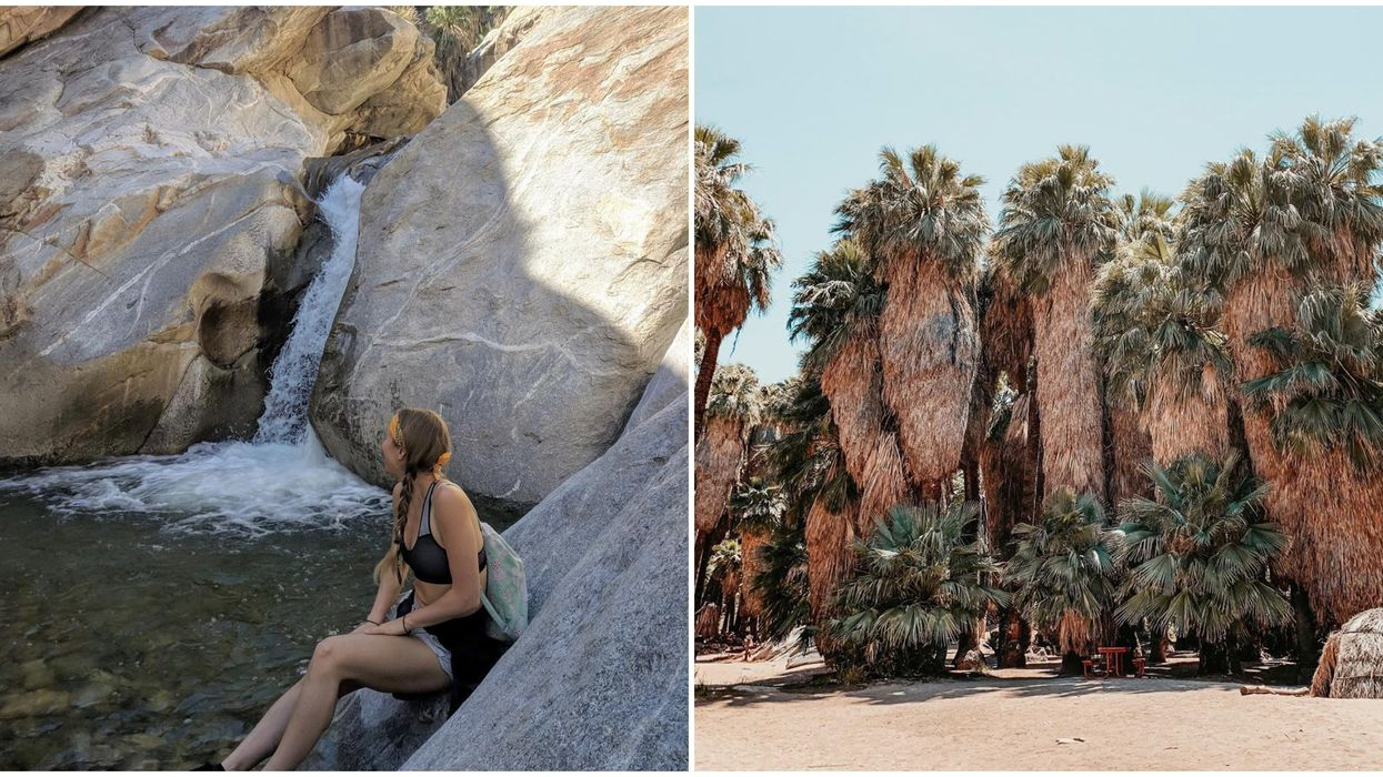 The Seven Sisters Waterfall In Coachella Valley Is A True Desert Oasis