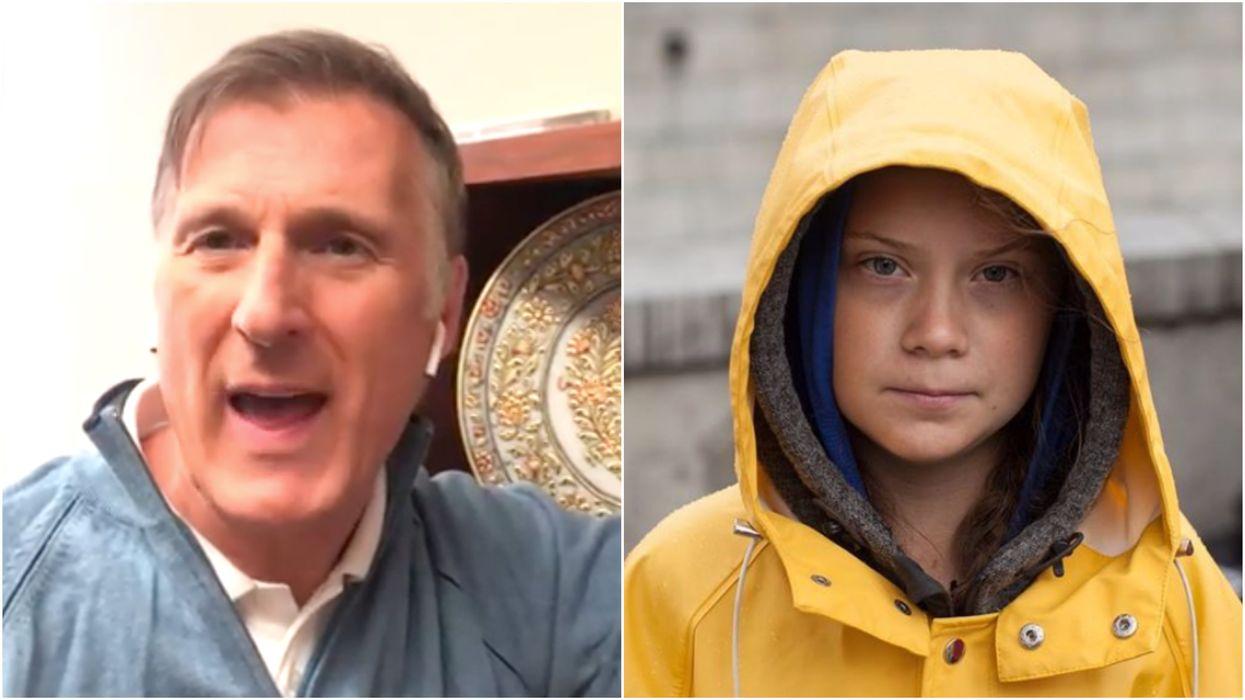 Maxime Bernier's Greta Thunberg Trash Talk Is Now Extending To Her Family