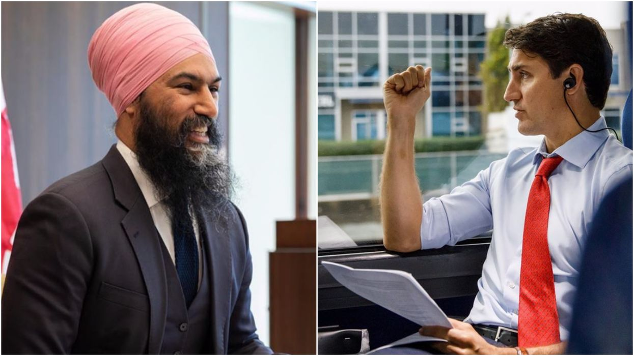 Justin Trudeau's Bizarre Tree Tweet Was Just Ripped Apart By Jagmeet Singh