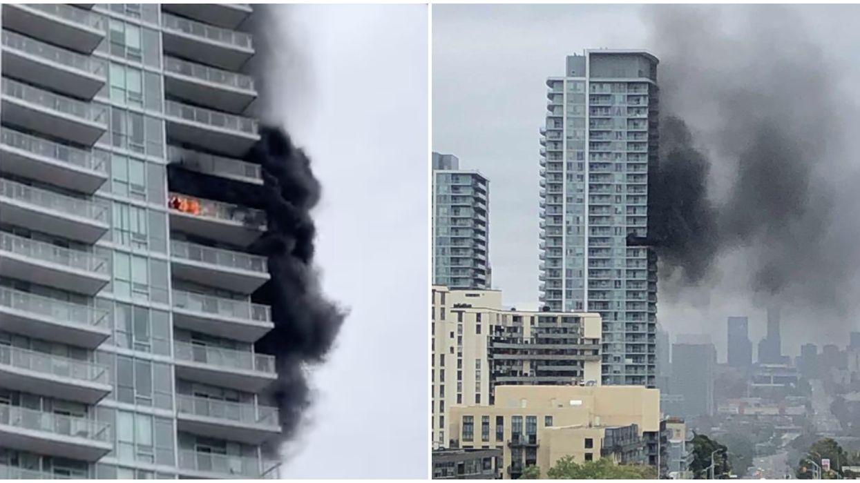 Toronto Building Fire Turns North York Skyline Black With Smoke
