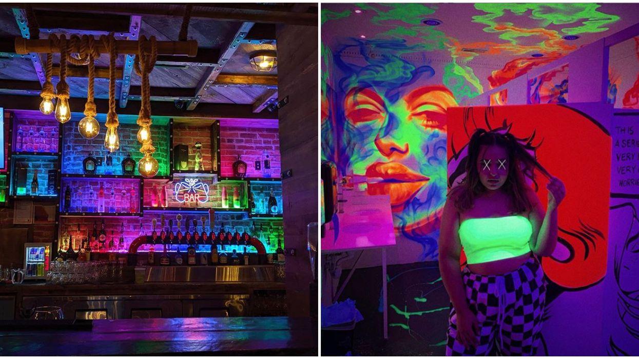 Toronto's Graffiti Spot Bar Has Glowing Murals & A $6.99 Menu
