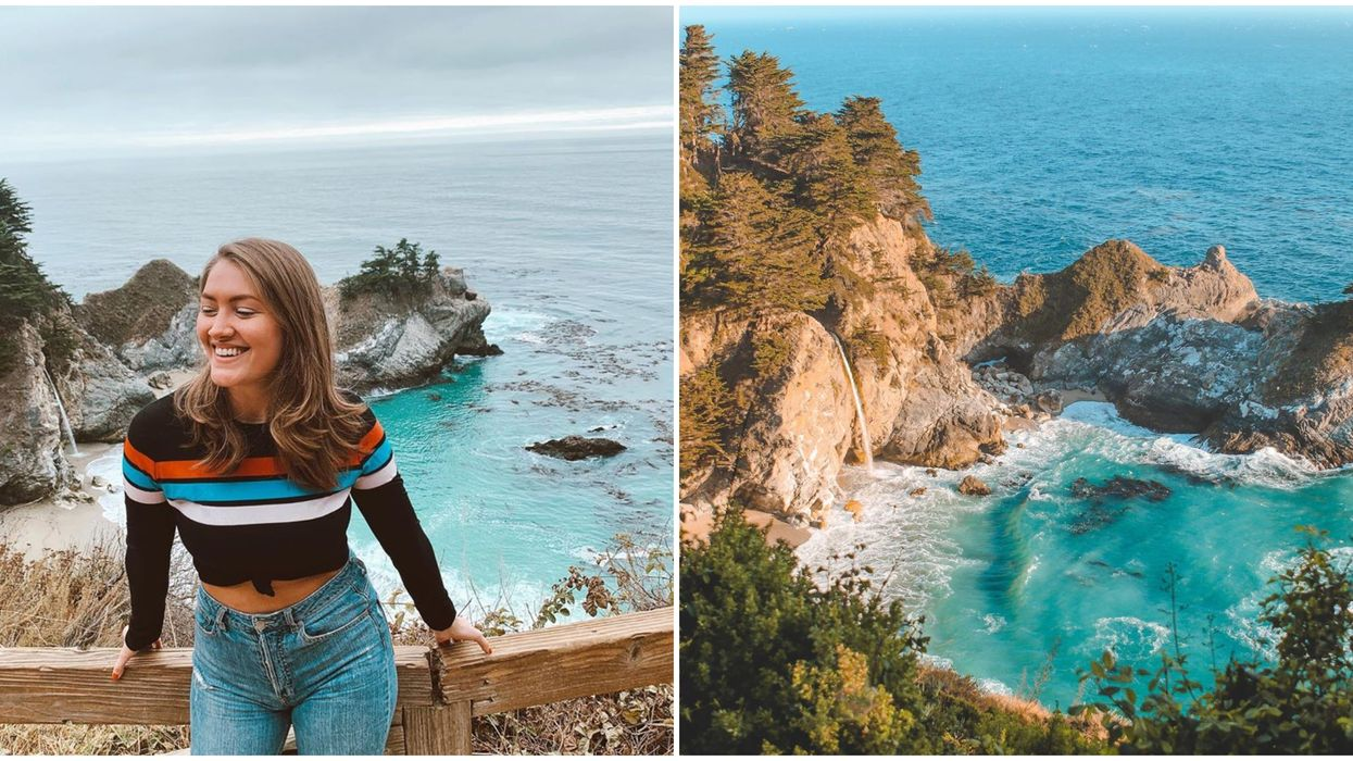 McWay Falls Is An Easy Hike To Jaw-Dropping Views Of A Waterfall On The Beach