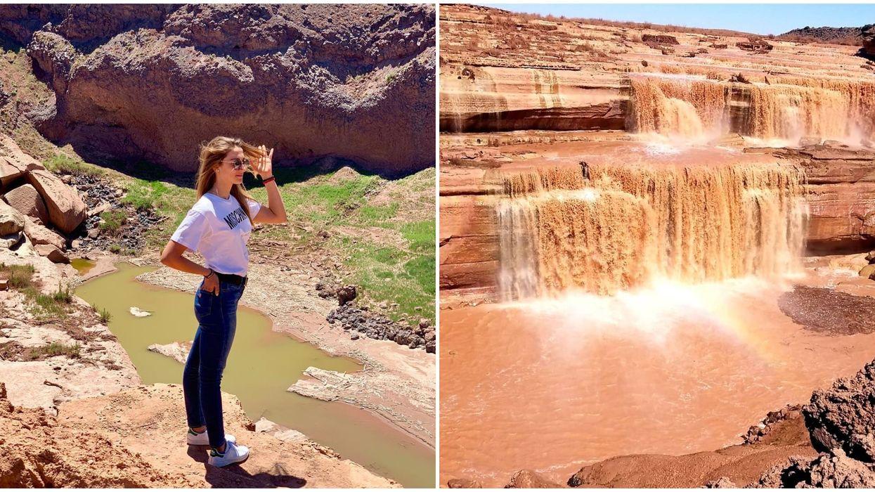 Chocolate Waterfall In Arizona Is An Easy Fall Adventure