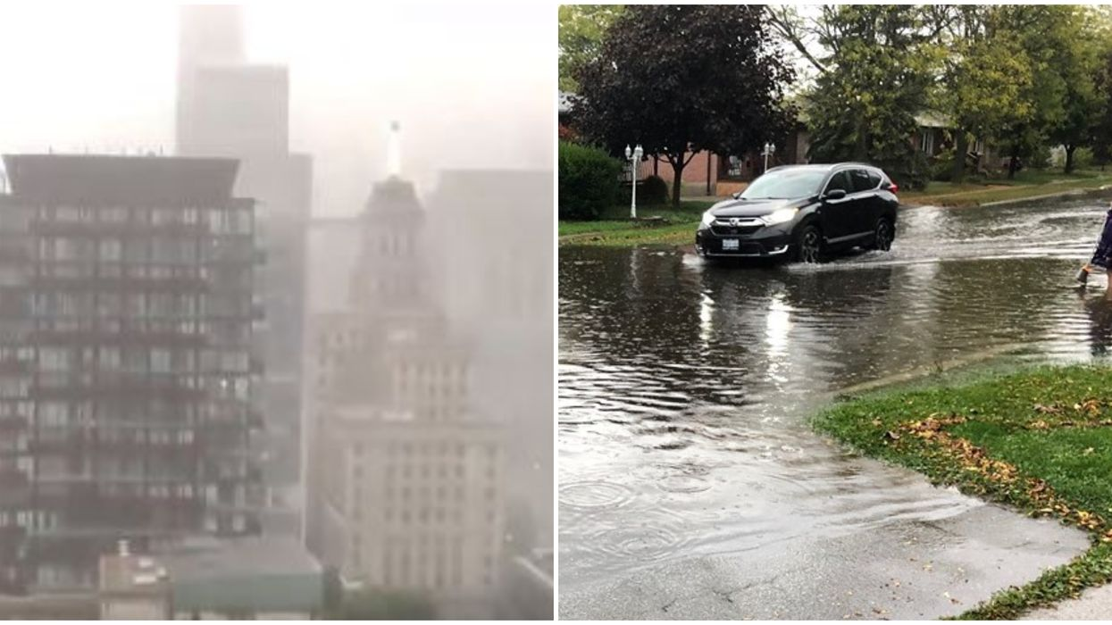 Ontario Storm Brought Torrential Downpour And Flooded Roads Across The GTA