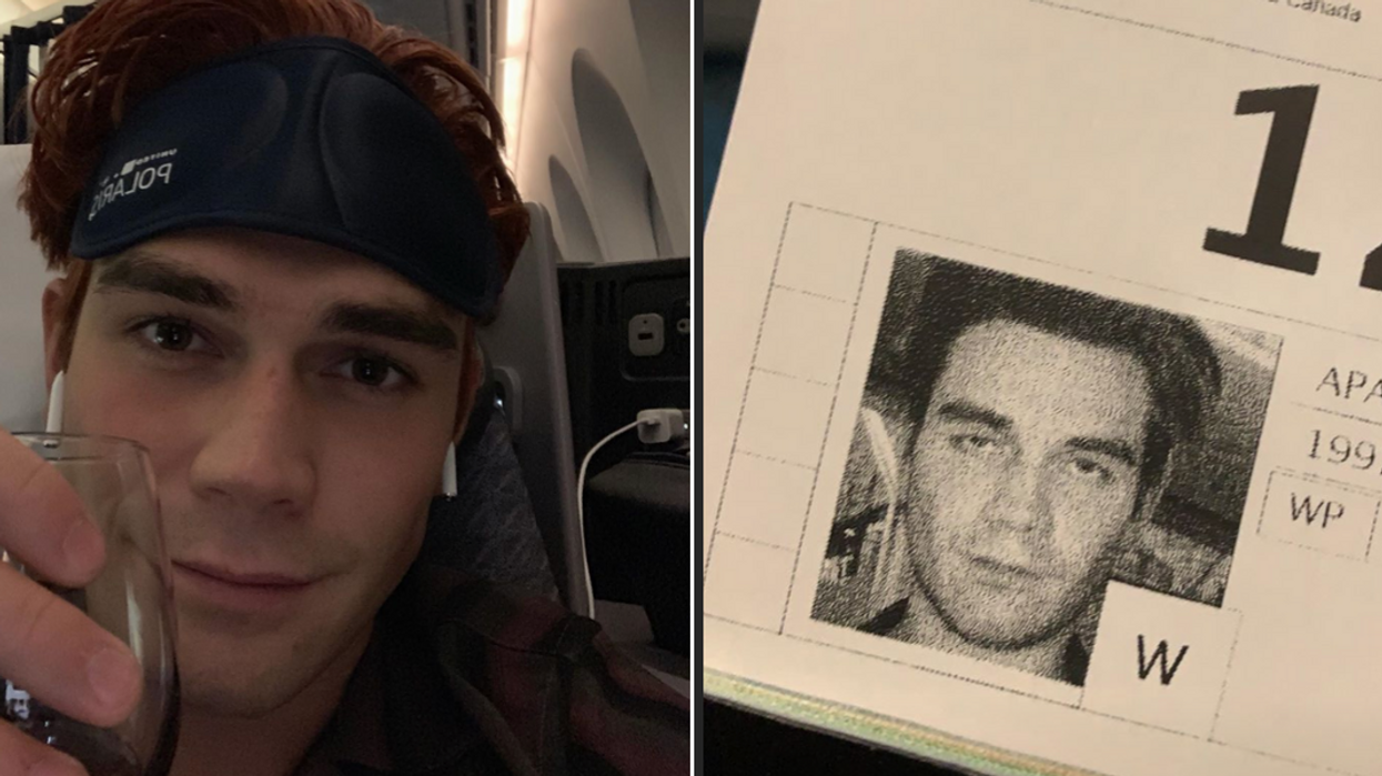 """""""Riverdale"""" Star KJ Apa Announced He's Back In Canada With This Hilarious Photo"""