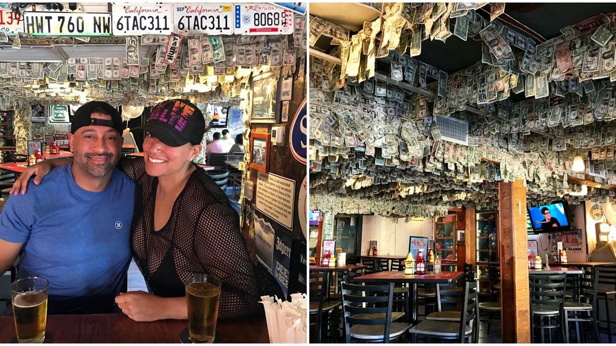 Unique Bar In Florida Decorated With Dollar Bills Donates Money To Hurricane Dorian Relief