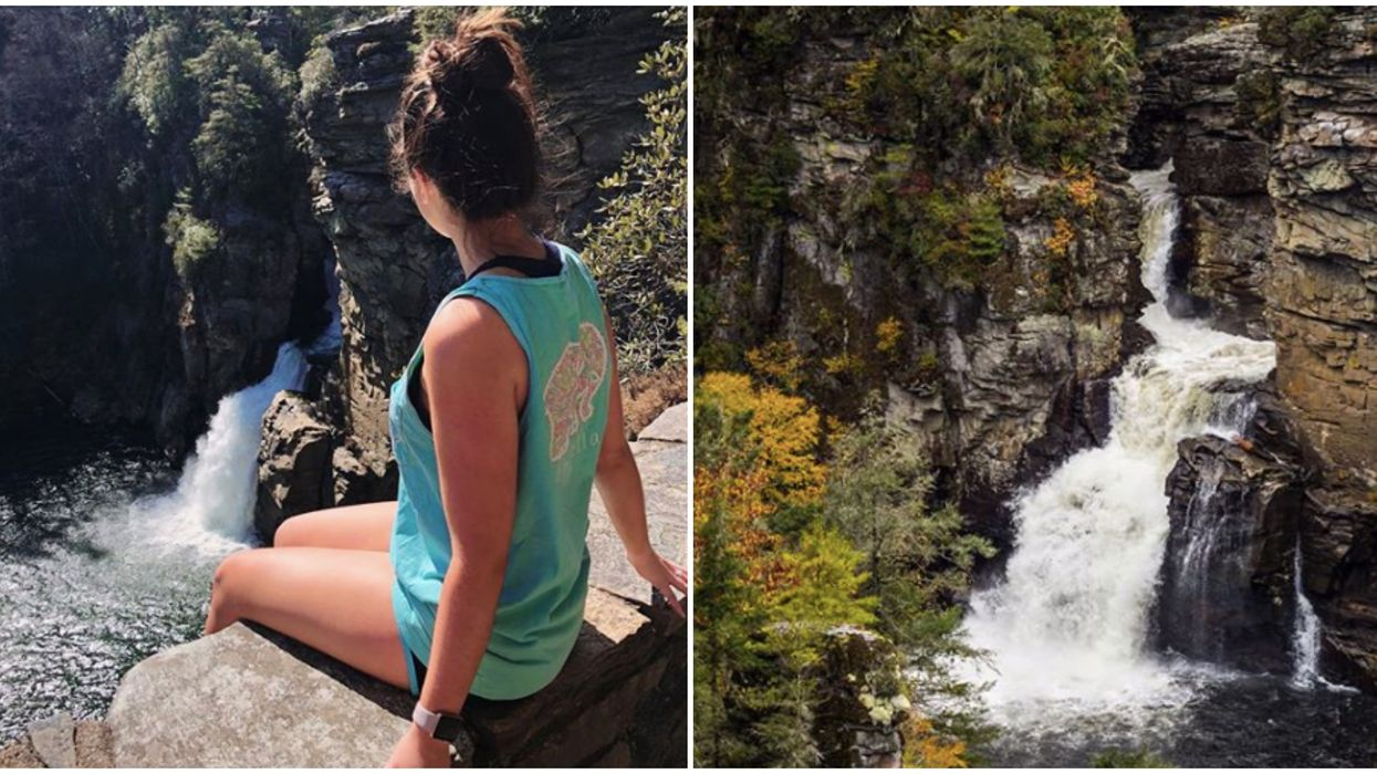 You Can Take This Short Hike To A Gorgeous Three-Tiered Waterfall In North Carolina