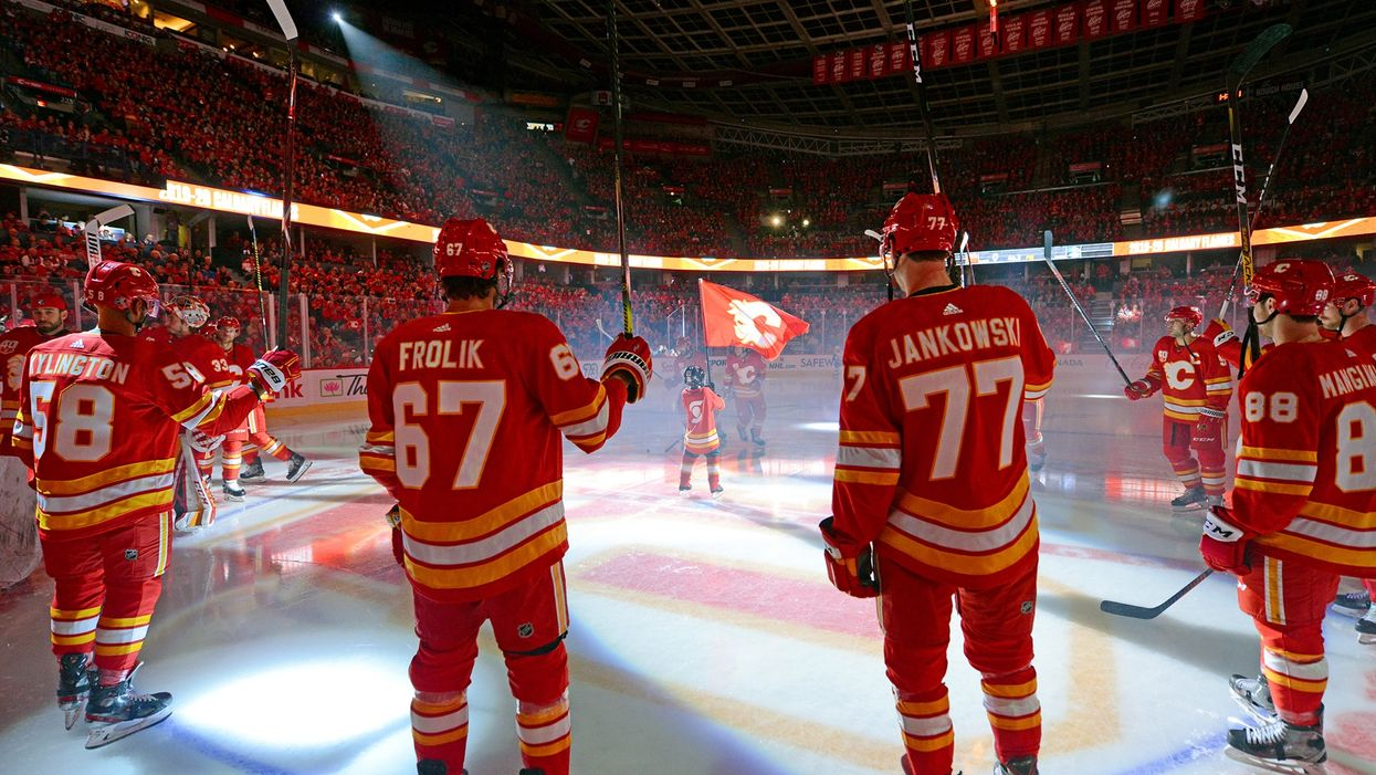 """The Calgary Flames Posted A """"Sexually Suggestive"""" Photo & The Internet Can't Stop Laughing"""