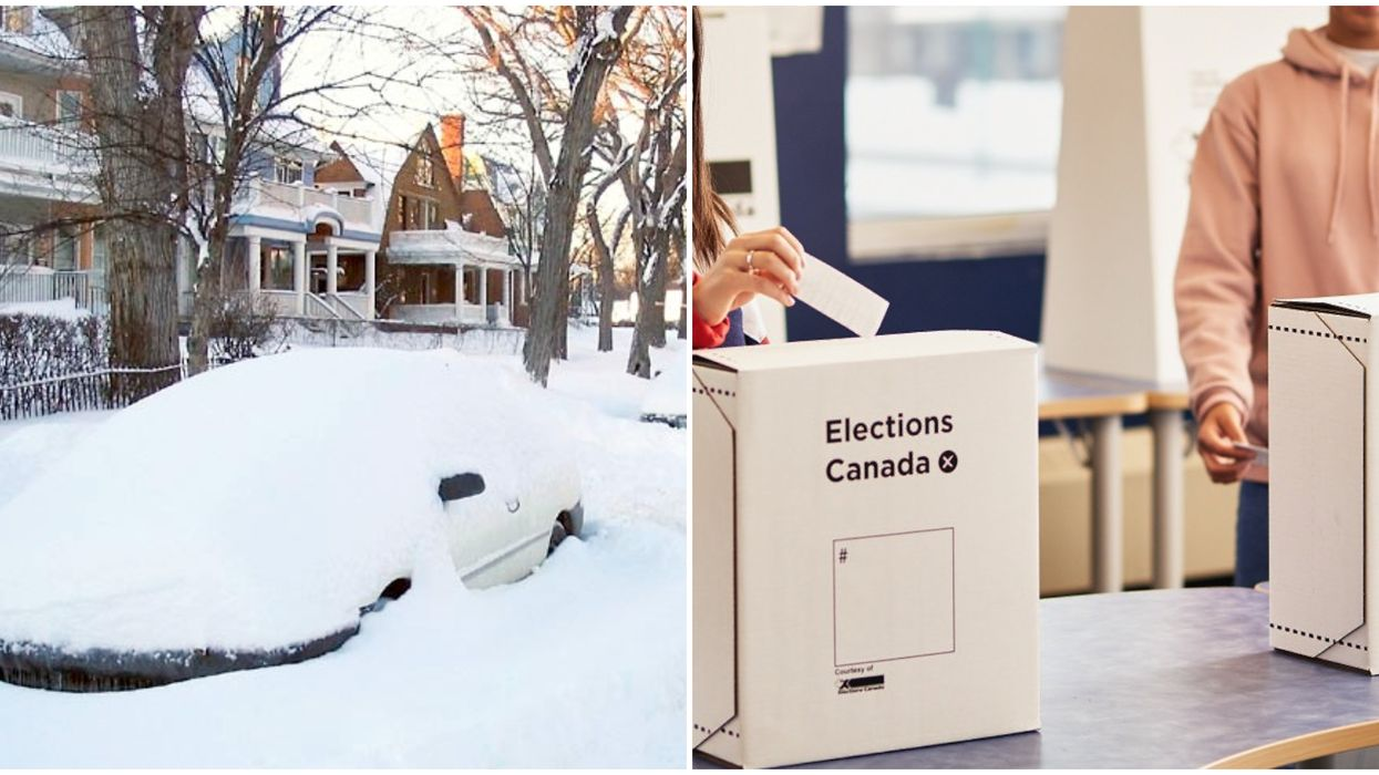 There's So Much Snow In Manitoba Right Now That People Can't Vote